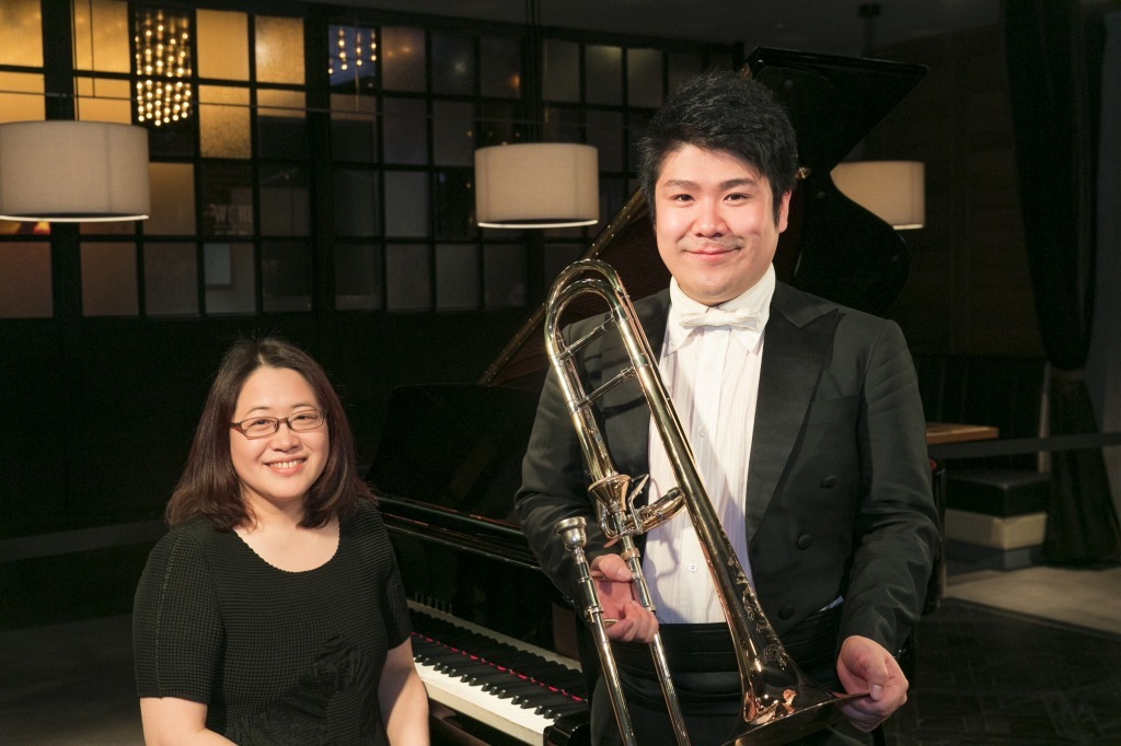原田恭子(ピアノ)&藤原功次郎(トロンボーン)
