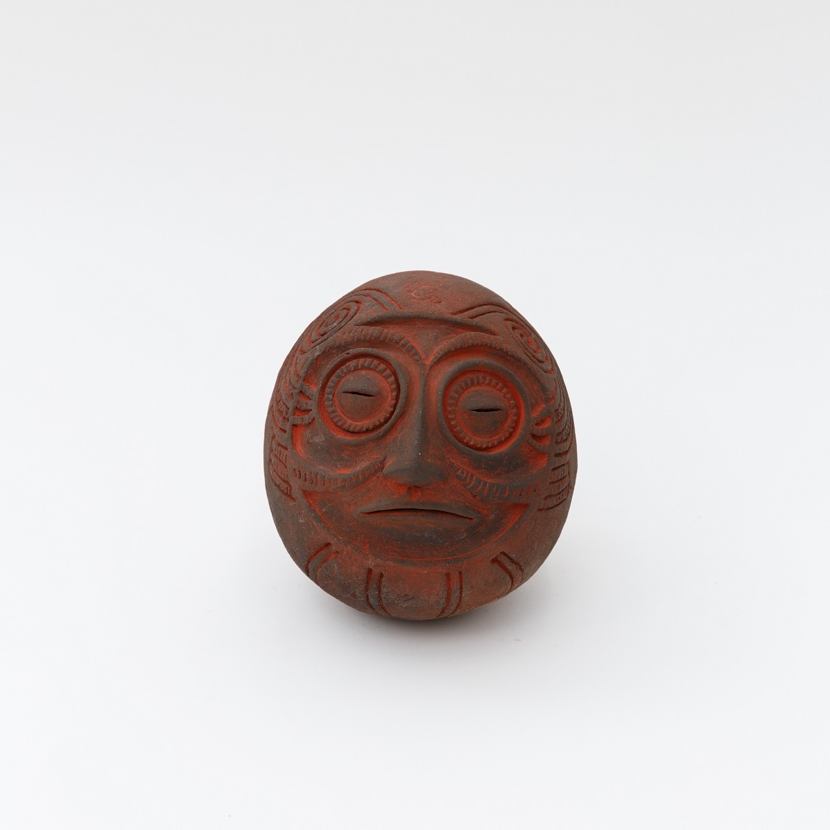 熊谷幸治《土偶・ダルマ》2010 17×20.5×21cm