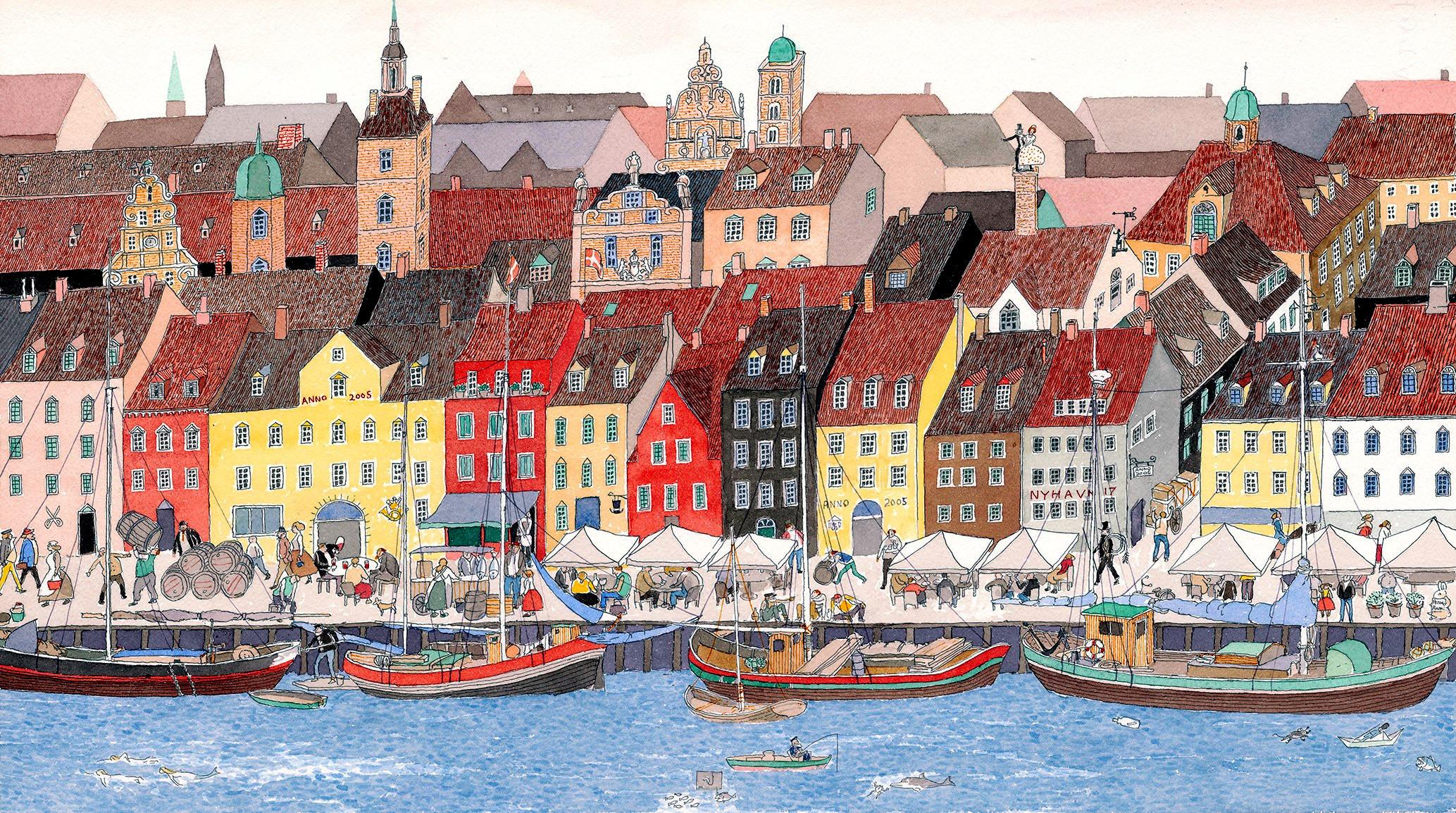 『旅の絵本Ⅵ デンマーク』2004年 (C)空想工房