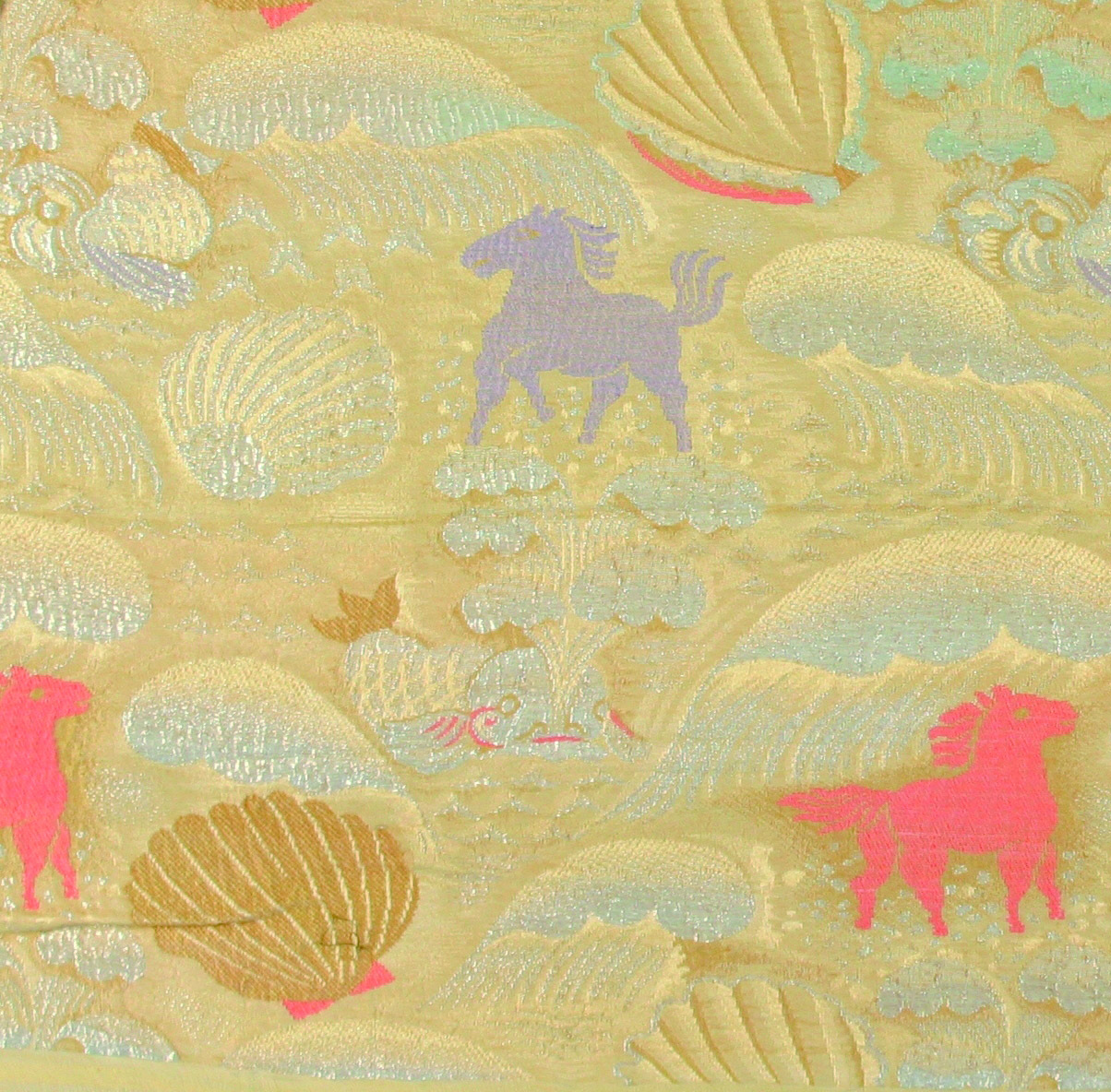 《貝殻と海の馬》 1922-24年頃 金銀糸の入った錦 デュフィ・ビアンキーニ蔵