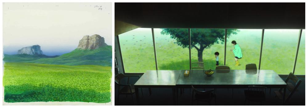 映画「未来のミライ」の背景美術などの貴重な資料