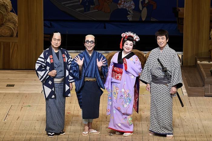 (左から)太川陽介、八嶋智人、渡辺えり、西岡德馬