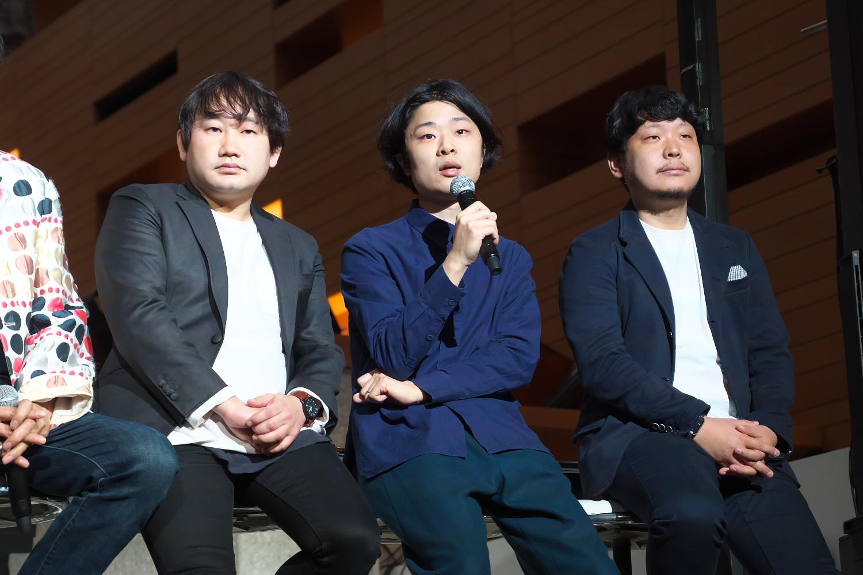大阪大学・小川浩平氏(左)、東京大学・土井樹氏、ミクシィ・村瀬龍馬氏