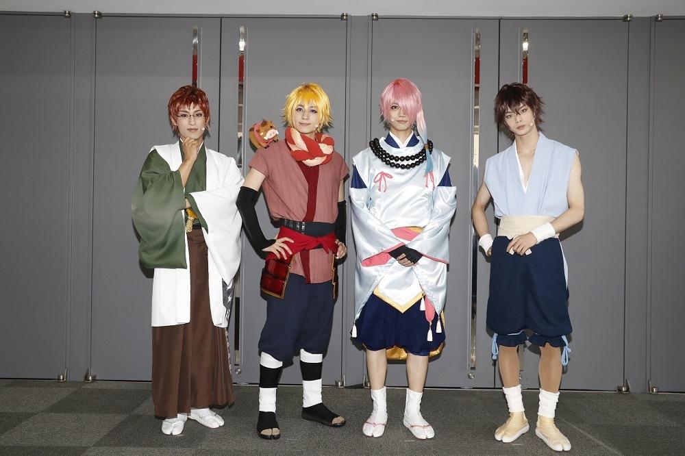 (左から)武子直輝、佐奈宏紀、高橋健介、後藤 大 (C)舞台「ひらがな男子」製作委員会