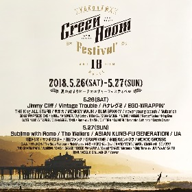 武藤昭平withウエノコウジ、『GREENROOM FESTIVAL'18』出演メンバーにGRAPEVINE田中ら
