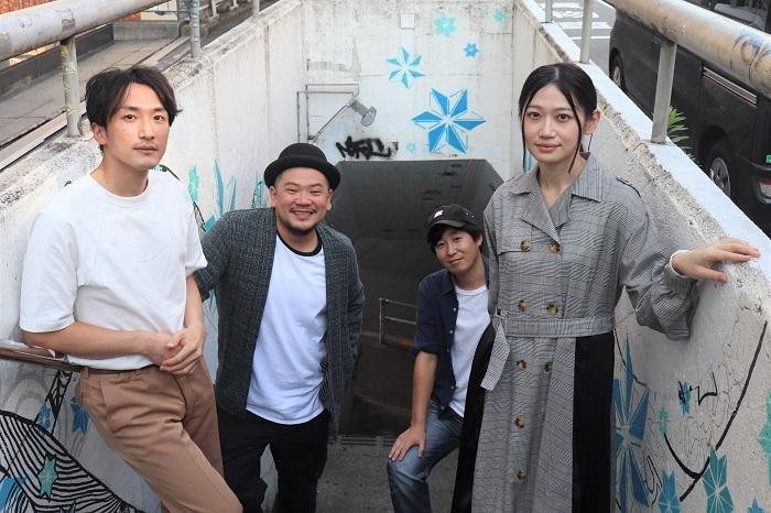 写真左から田中博士、田代源起、高木公佑、葛堂里奈