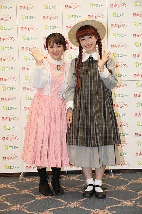 (左から)さくらまや(ダイアナ・バリー役)・美山加恋(アン・シャーリー役)