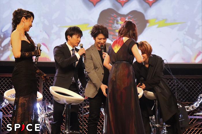 「バキッ」直後。松也さん顔が笑ってます。