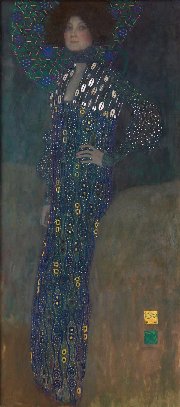 グスタフ・クリムト《エミーリエ・フレーゲの肖像》1902 年 油彩/カンヴァス 178 x 80 cm ウィーン・ミュージアム蔵 (C)Wien Museum / Foto Peter Kainz