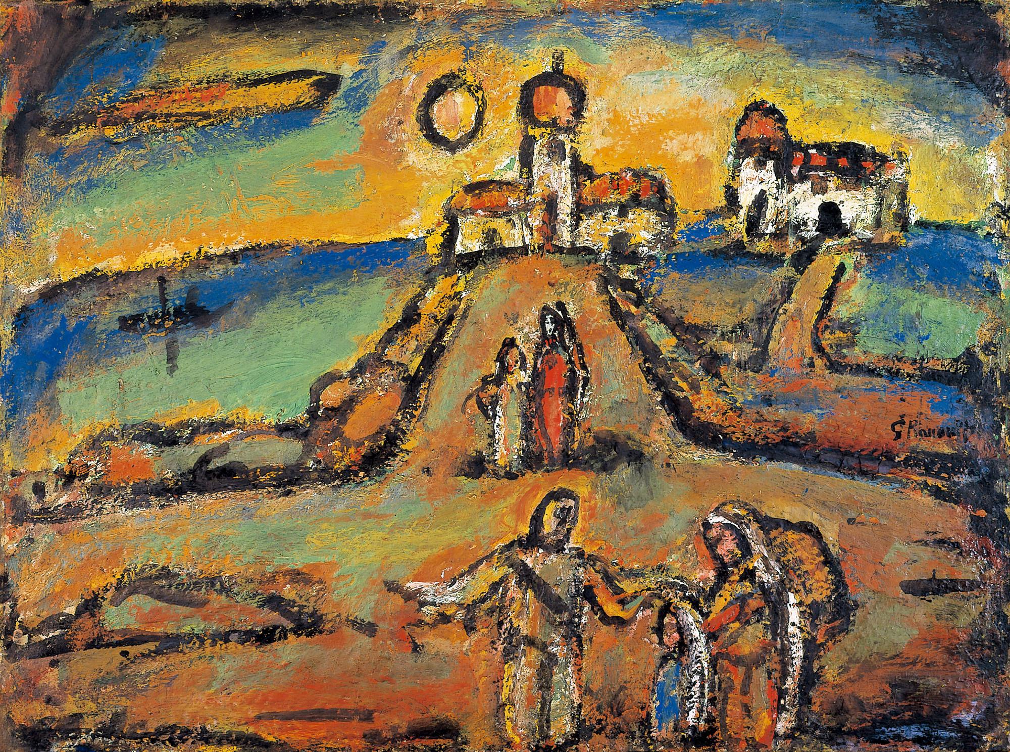 ジョルジュ・ルオー《秋の夜景》1952年 パナソニック 汐留ミュージアム