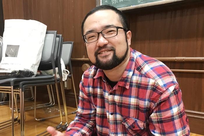 池浦さだ夢(団長)。 [撮影]吉永美和子