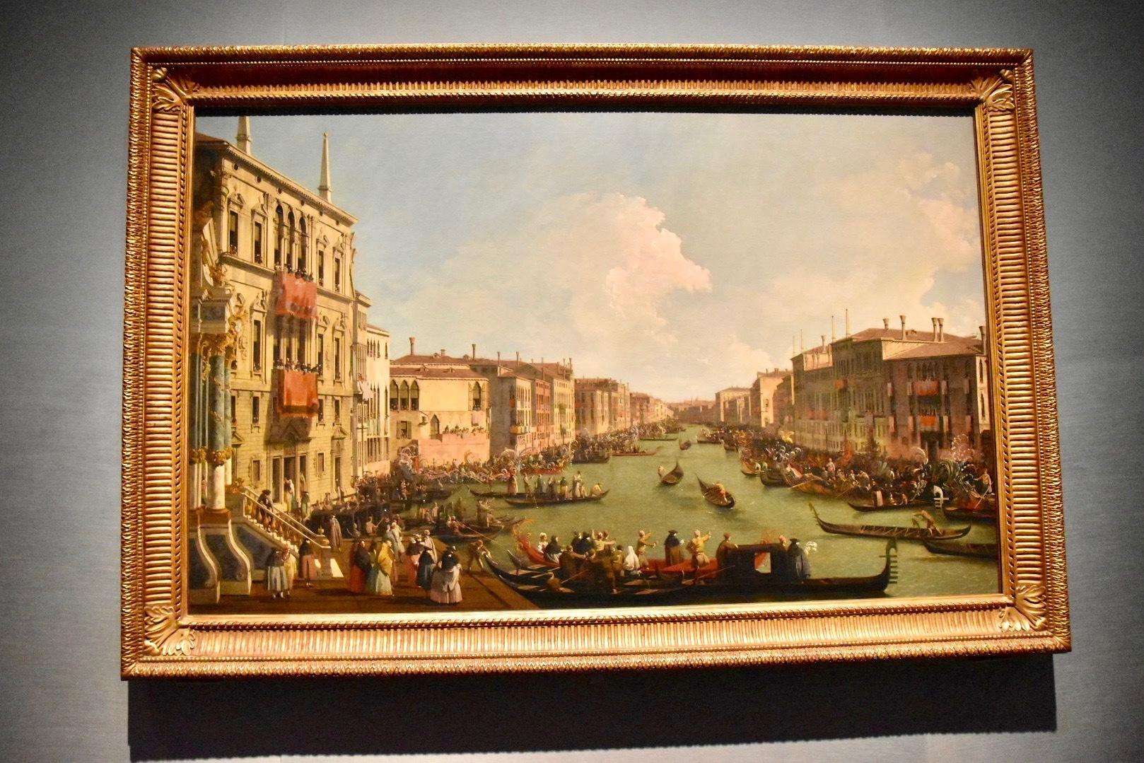 カナレット(本名ジョヴァンニ・アントニオ・カナル)《ヴェネツィア:大運河のレガッタ》1735年頃
