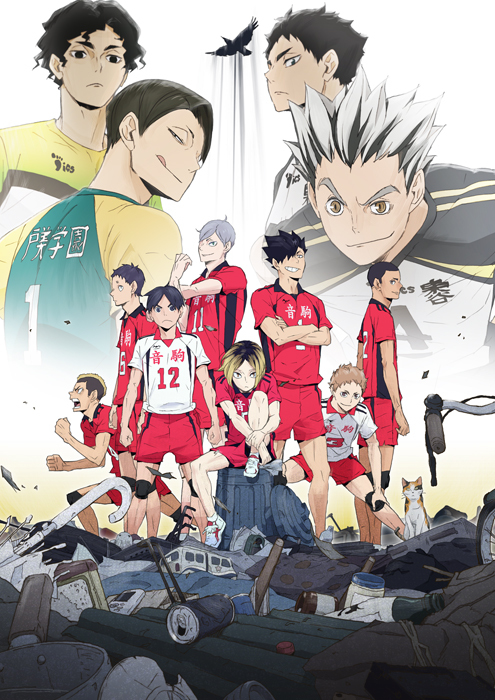OVA『ハイキュー‼ 陸(りく) VS(たい) 空(くう)』Blu-ray & DVD キービジュアル  (C)古舘春一/集英社・「ハイキュー!!」製作委員会・MBS