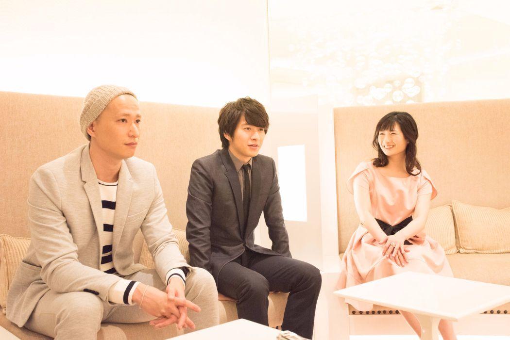 左から、秋山真太郎、村井良大、武田梨奈 撮影=原地達浩