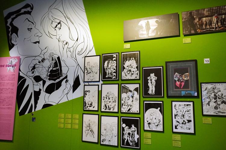スーサイド・スクワッドエリア展示風景 DC SUPER HEROES and all related characters and elements (C) & TM DC Comics. WB SHIELD: (C) & TM WBEI. (s21)