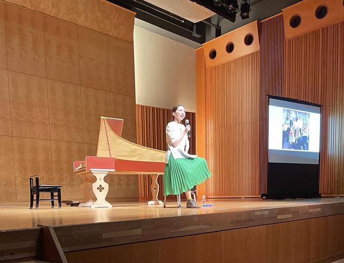 中村蓉 「ヘンデル『セルセ』公演 プレトーク&コンサート」にて
