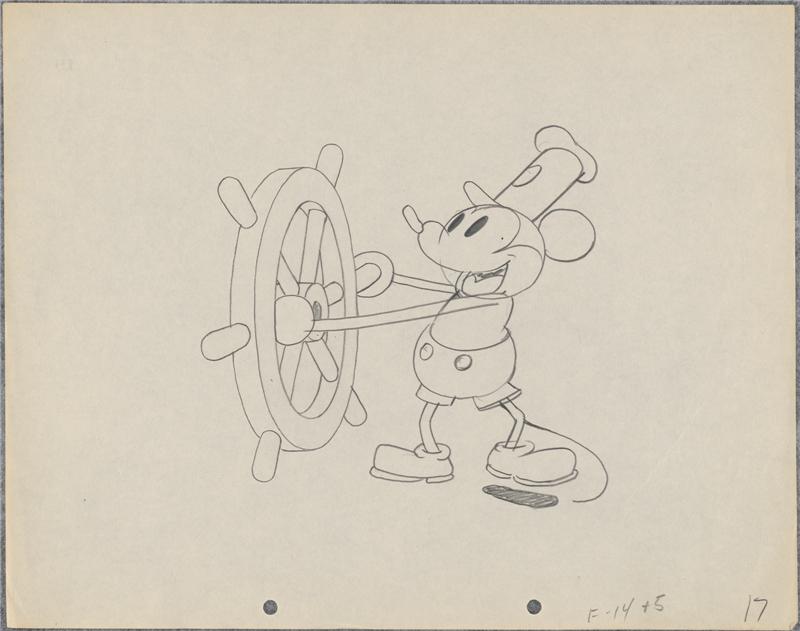 《蒸気船ウィリー》より 1928年 (C)Disney Enterprises, Inc.