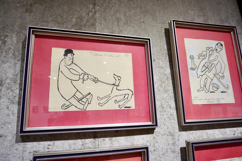 ヨゼフ・チャペック 《ミンダと散歩するカレル・チャペック》 1926-30年 鉛筆、インク/紙 22.5×30.0cm プラハ10区