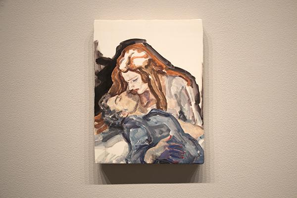 """Parsifal(Jonas Kaufmann and Katarina Dalayman), NYC, 2013 板に油彩 30.5 x 22.9cm 2013 Private Collection"