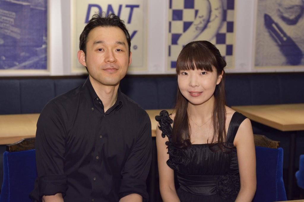 車野桃子(ピアノ)、布谷史人(マリンバ)