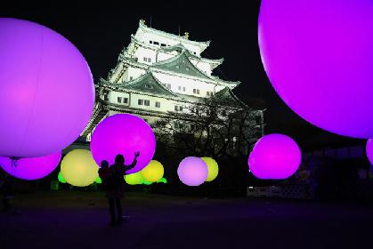 夜の名古屋城をアート空間に変える「チームラボ 浮遊する、呼応する球体 - 名古屋城」が12/23よりスタート