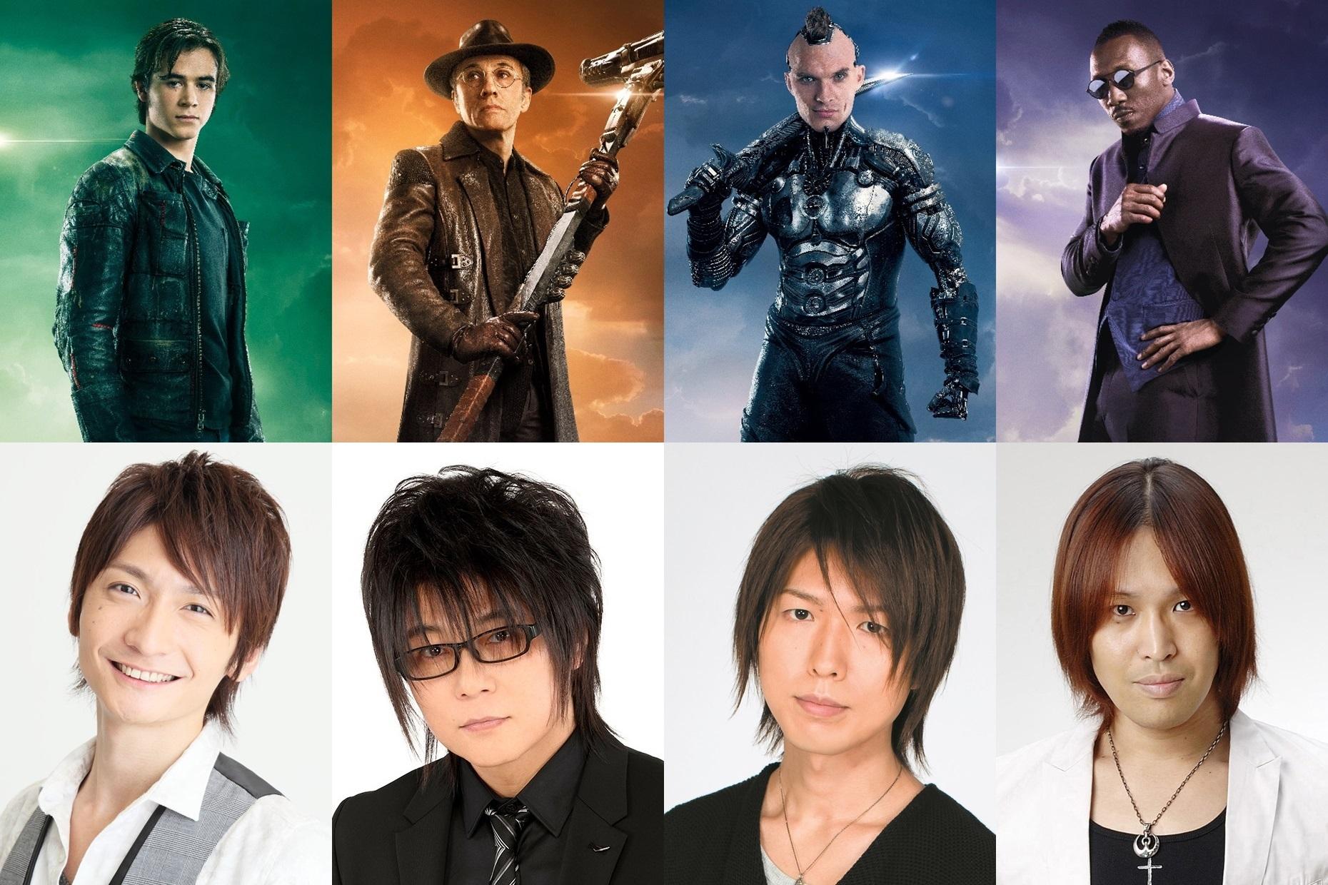 下段左から、島﨑信長、森川智之、神谷浩史、鶴岡聡