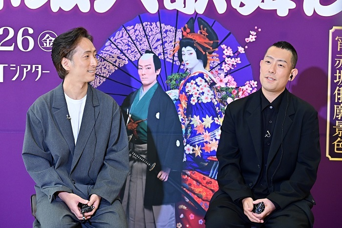 (左から)中村七之助、中村勘九郎