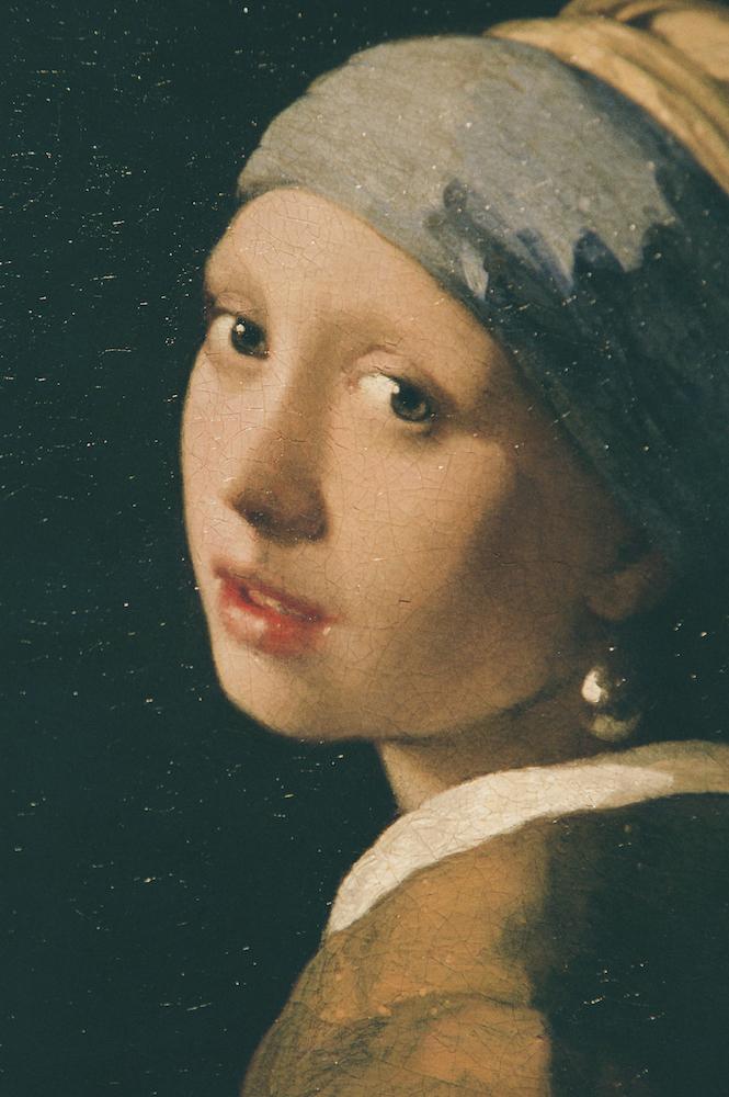 フェルメールの筆遣い、 息遣い。 (「真珠の耳飾りの少女」マウリッツハイス美術館、 オランダ)