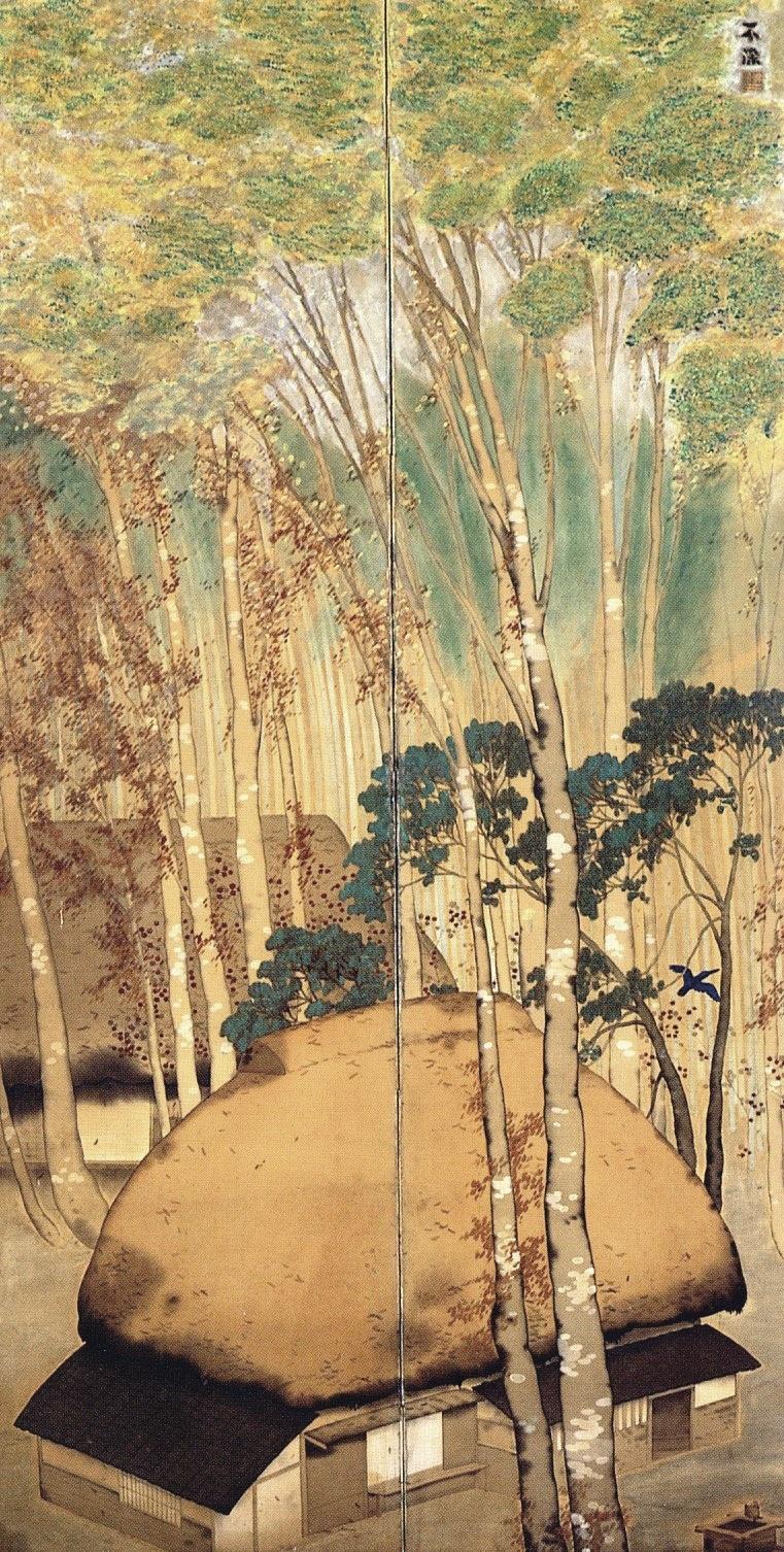 《林間》大正8(1919)年頃 奈良県立美術館蔵