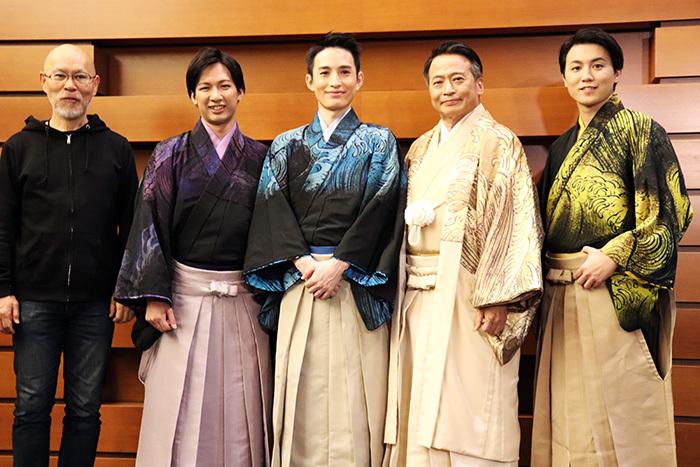 (左から)鈴木勝秀、江田剛、浜中文一、ラサール石井、内藤大希
