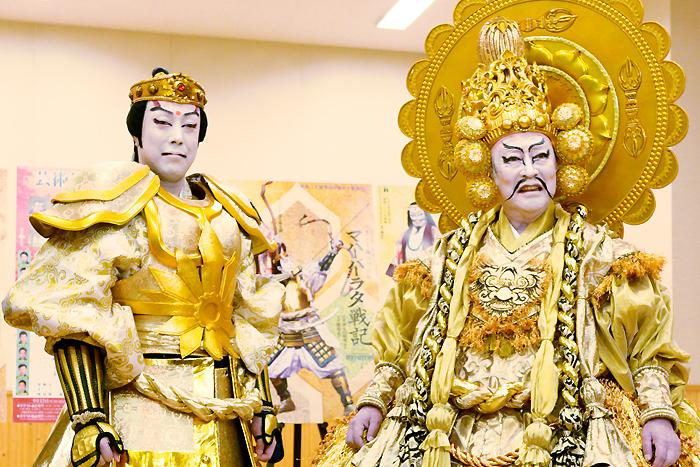 芸術祭十月大歌舞伎『極付印度伝マハーバーラタ戦記』尾上菊之助、尾上菊五郎