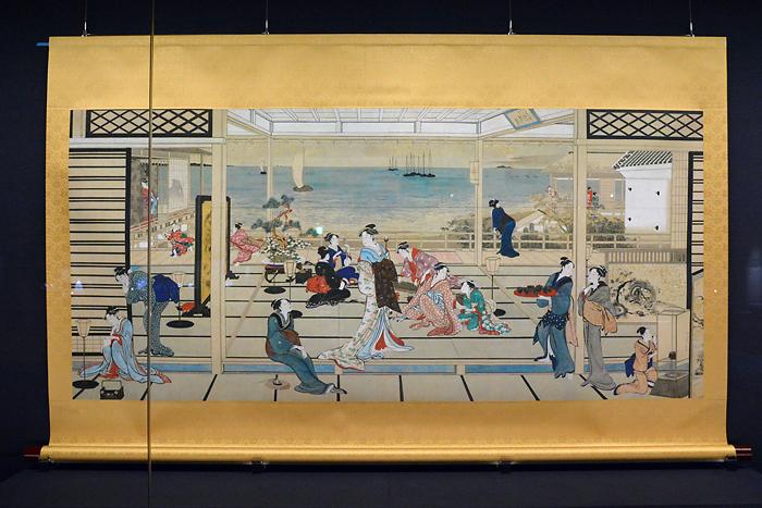 (原寸大高精細複製画)喜多川歌麿「品川の月」原本:江戸時代 天明8年(1788)頃 フーリア美術館蔵