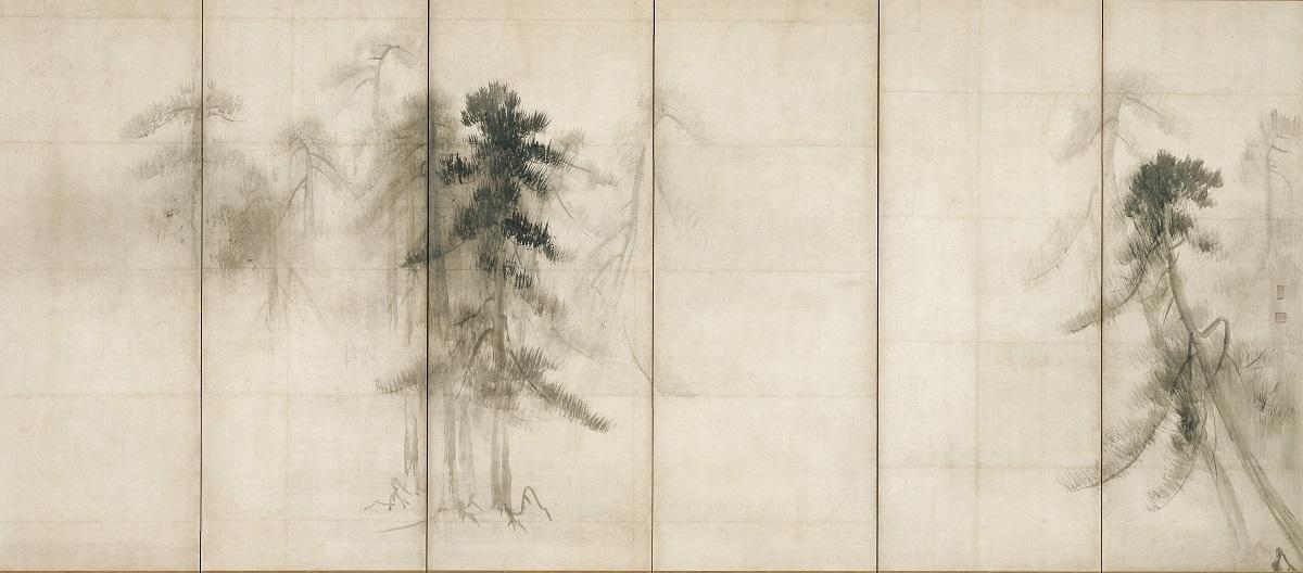 国宝 松林図屏風(右隻)   長谷川等伯筆 東京国立博物館 桃山時代・16世紀