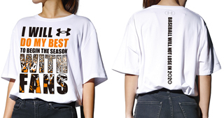 「WITH FANS」Tシャツ(WHITE):税込5,500円