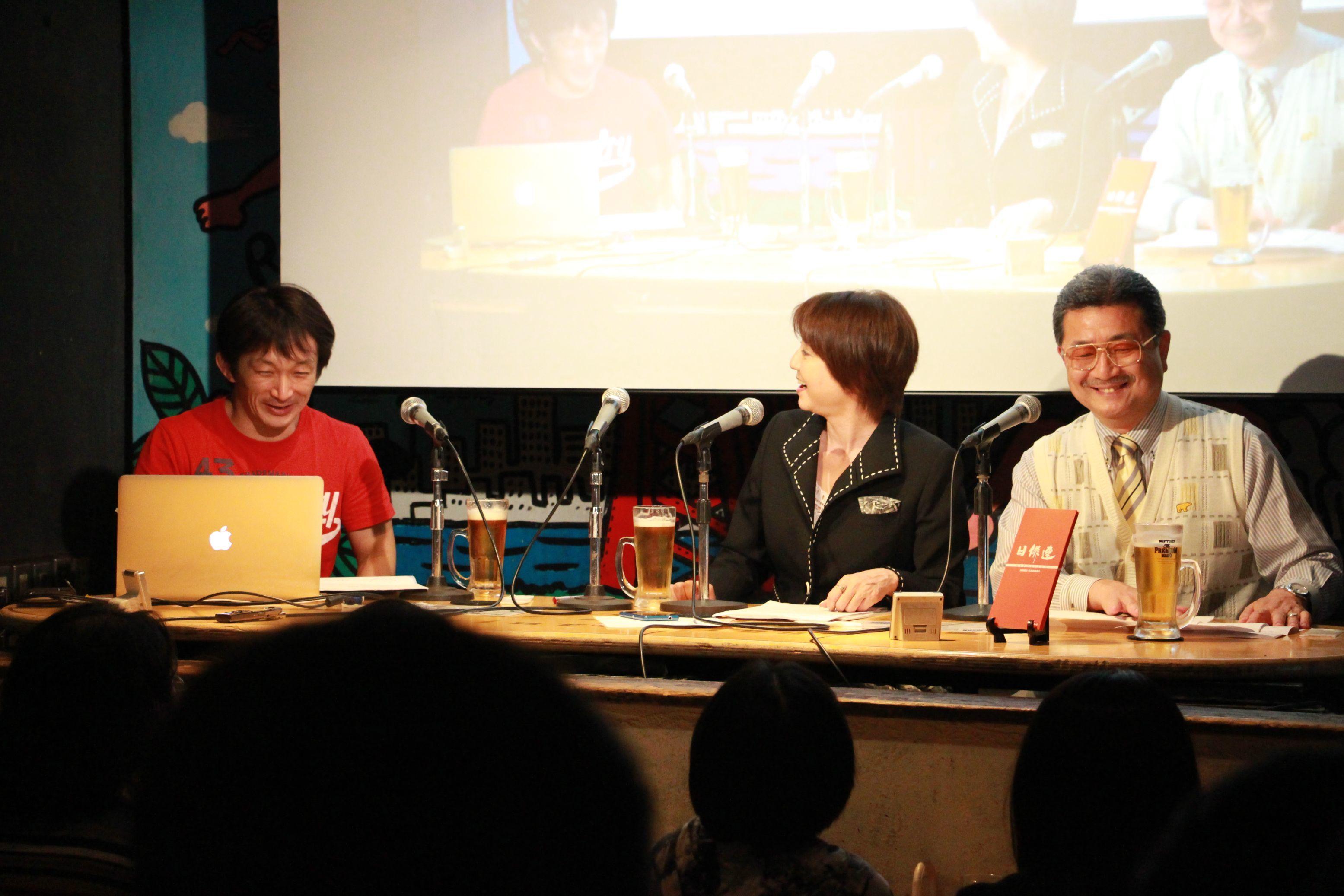 左から、谷垣健治氏、飯星景子氏、髙瀬將嗣氏