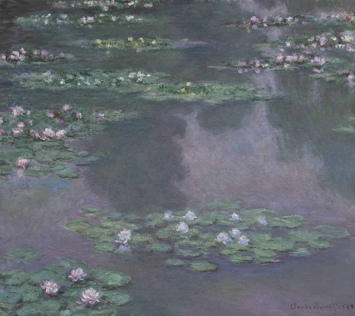 クロード・モネ《睡蓮》1905年 89.5cm x 100.3cm 油彩、カンヴァス Gift of Edward Jackson Holmes, 39.804 Photograph © 2017 Museum of Fine Arts, Boston