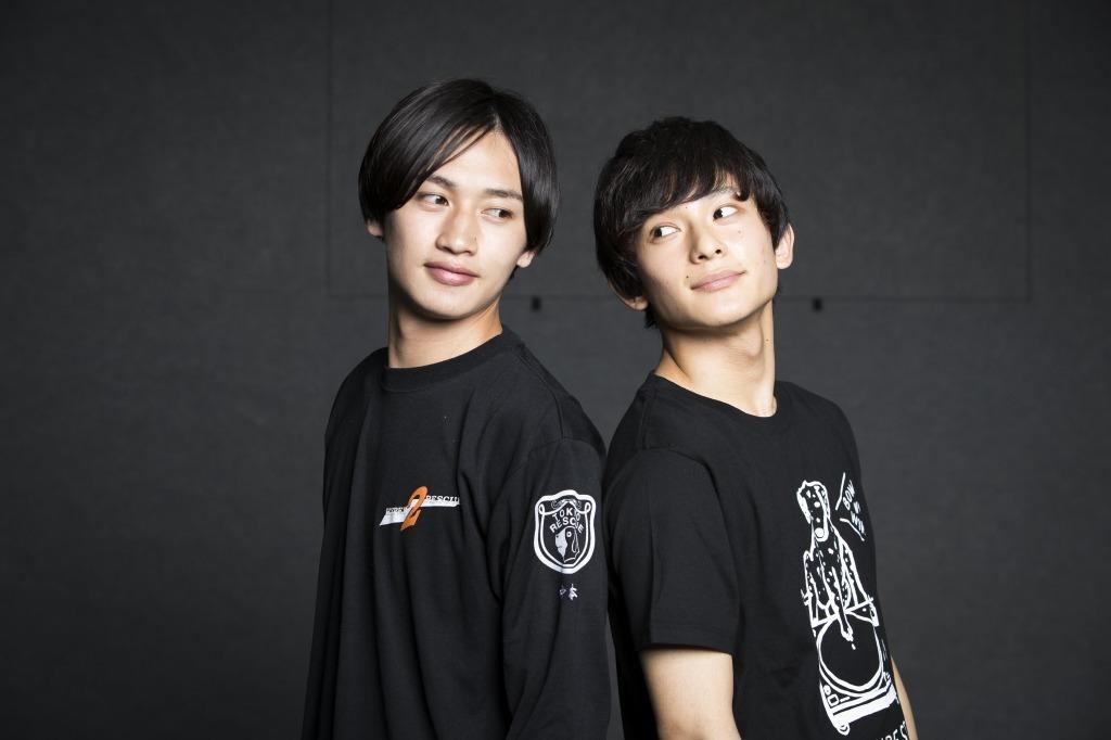 (左から)松本岳、橋本祥平
