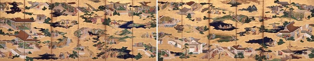 伊勢物語図屛風 江戸時代・17 世紀 三重・斎宮歴史博物館蔵