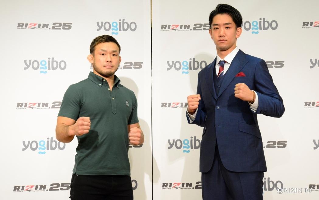 バンタム級から参戦する扇久保博正(左)と瀧澤謙太(右)