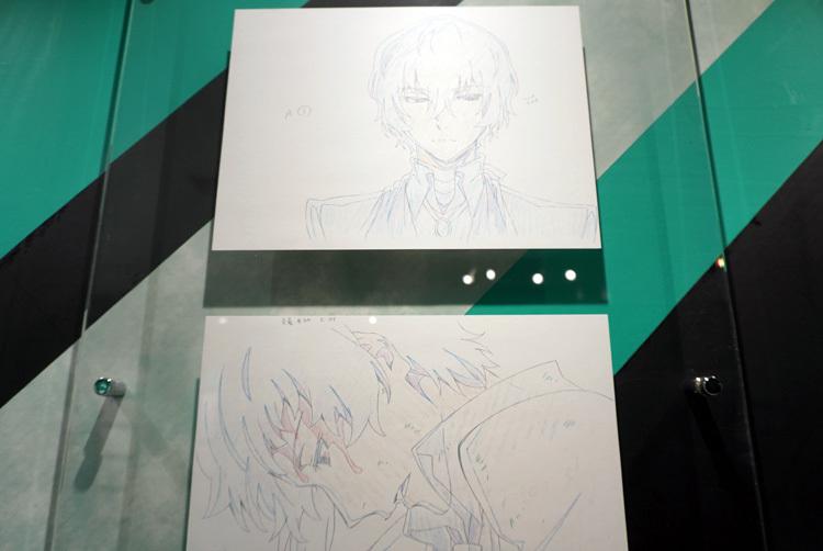 アニメ第2シーズン展示風景。複製原画をたっぷり見られる。