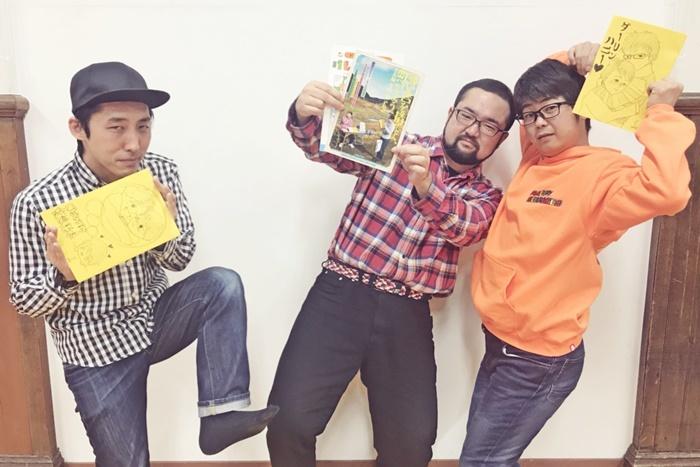 男肉 du Soleilメンバー。(左から)高阪勝之(K)、池浦さだ夢(団長)、すみだ。 [撮影]吉永美和子