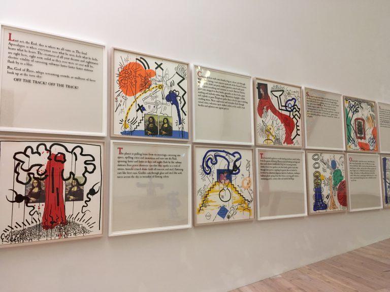 キース・ヘリングと詩人ウィリアム・バロウズの共作《アポカリプス(黙示録)》1988年  All Keith Haring Works ©︎ Keith Haring Foundation