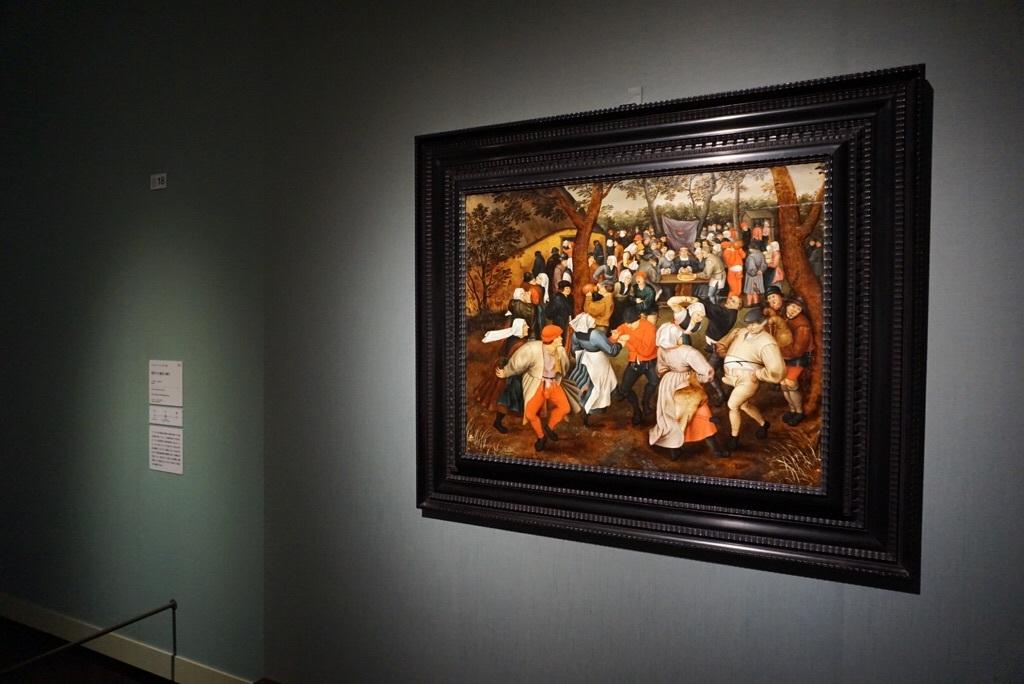 《野外での婚礼の踊り》ピーテル・ブリューゲル2世  1610年頃