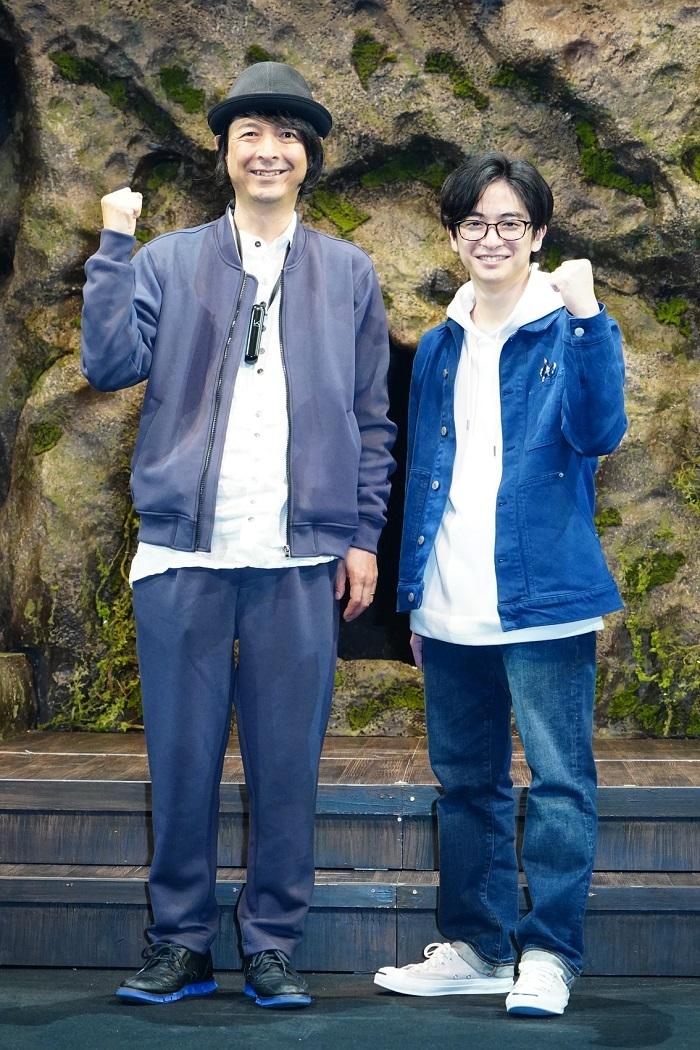 (左から)河原雅彦、知念侑李  撮影:田中亜紀