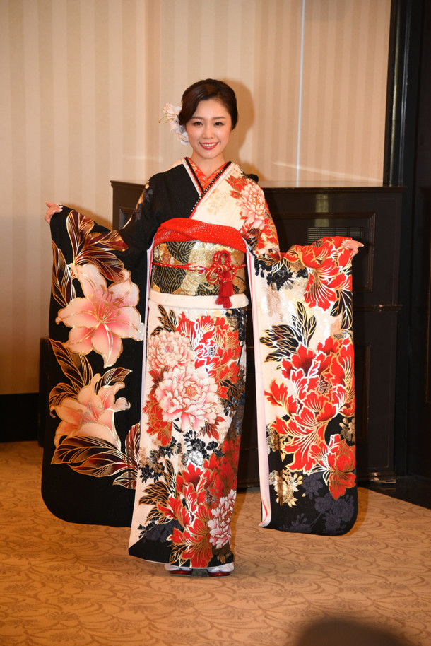 石田安奈。写真は1月9日に東京・神田明神で行われた成人式で撮影されたもの。