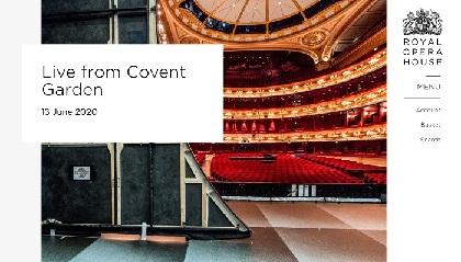 ロイヤル・オペラ・ハウスが3週にわたりライブ・コンサートを開催 第1回は無料配信