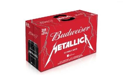 メタリカとバドワイザーのコラボビール発売