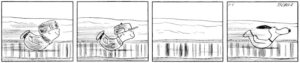 「ピーナッツ」複製原画 1957年1月1日