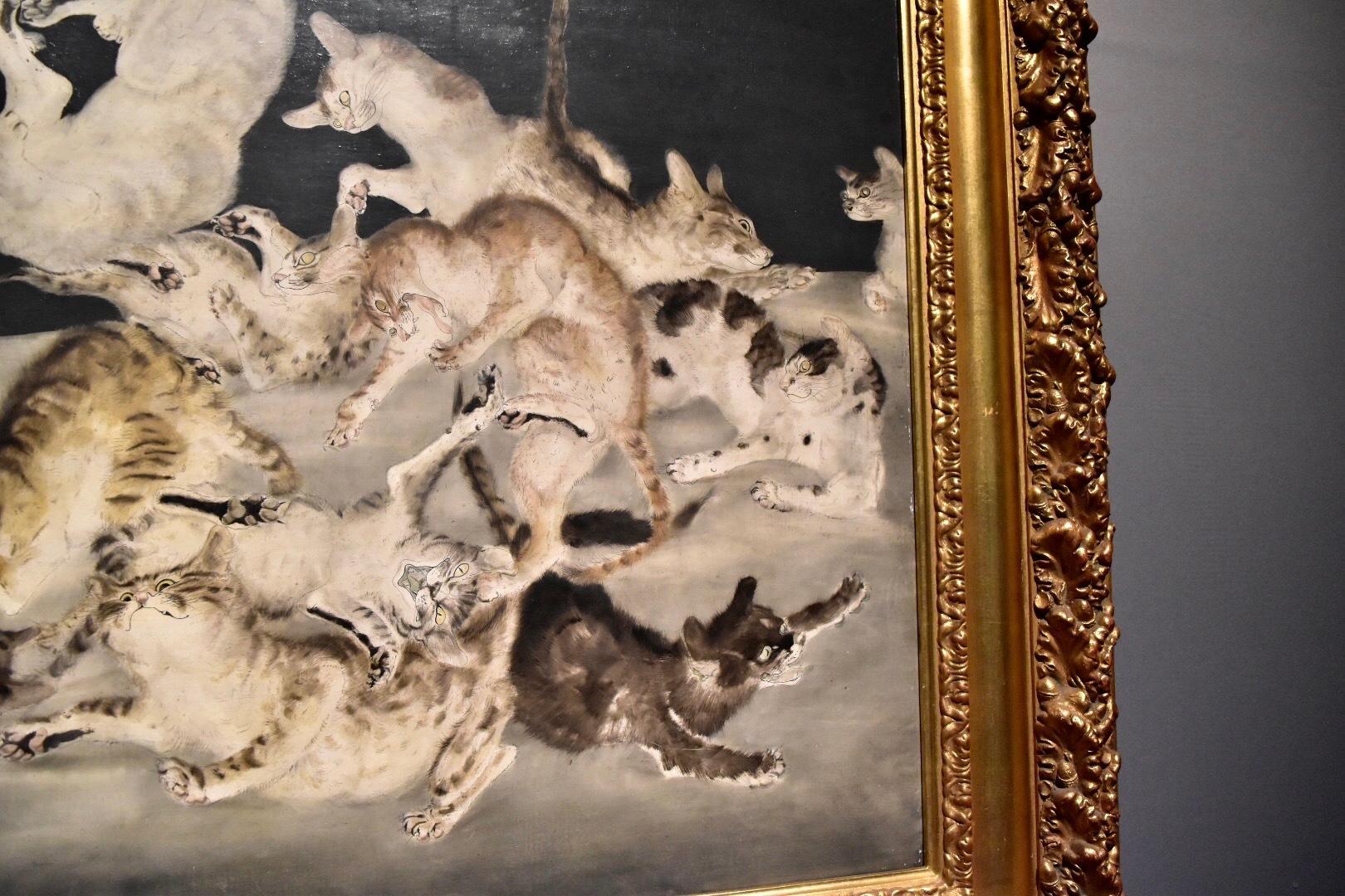 《争闘(猫)》(部分) 1940年 東京国立近代美術館蔵 (C) Foundation Foujita / ADAGP , Paris & JASPAR , Tokyo , 2017 E2833