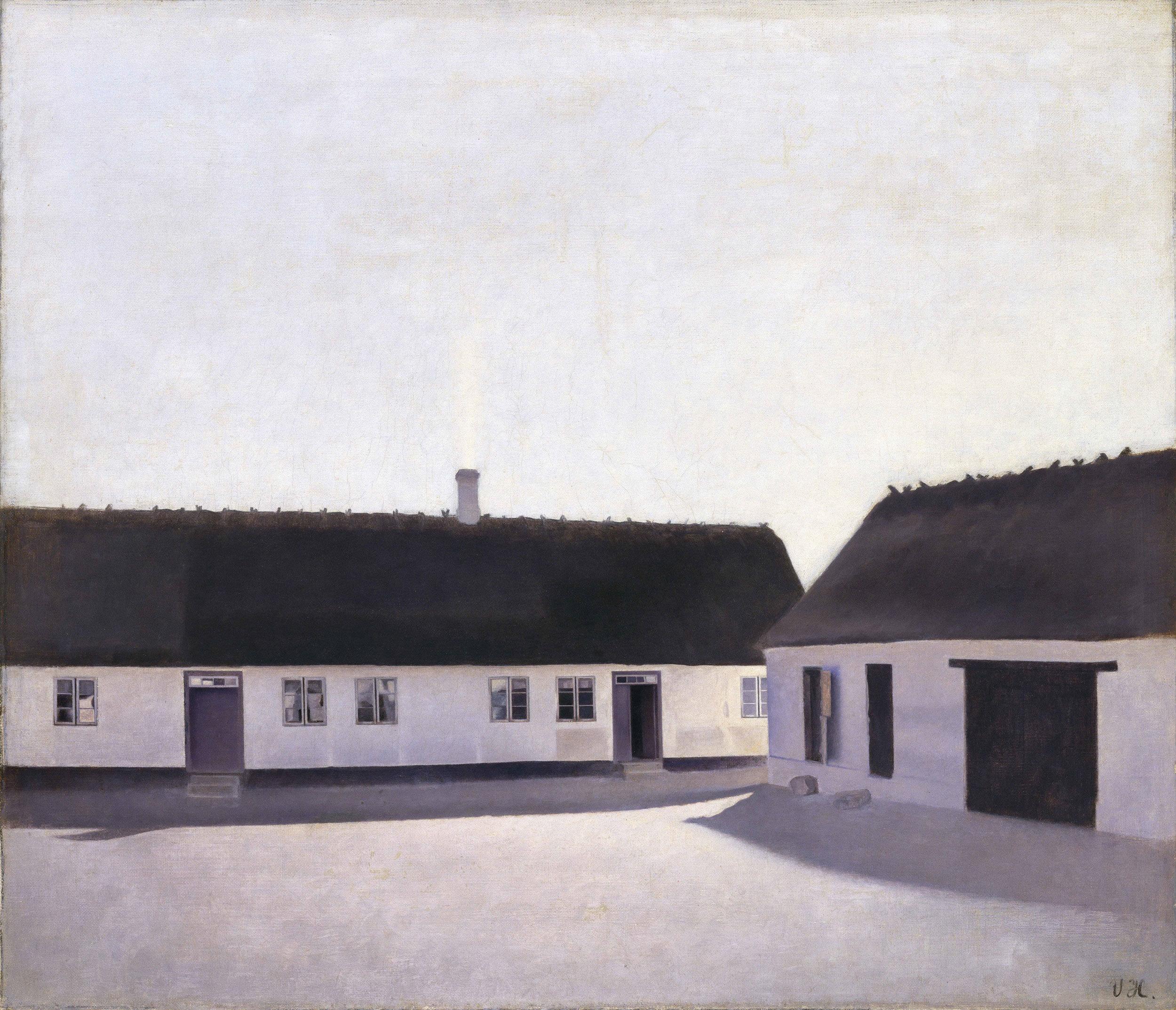 ヴィルヘルム・ハマスホイ 《農場の家屋、レスネス》 1900年 デーヴィズ・コレクション蔵 The David Collection, Copenhagen